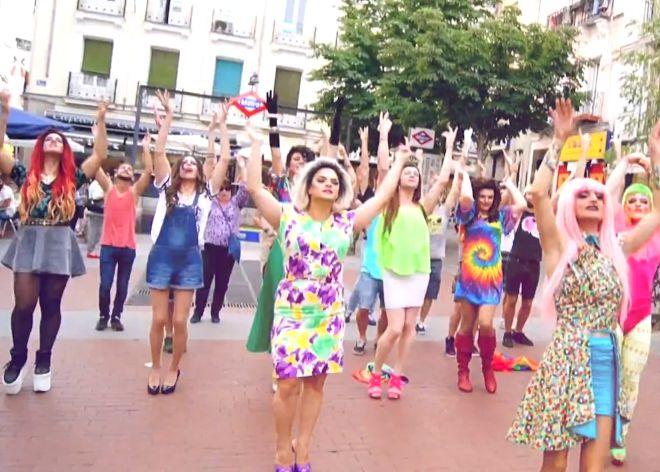 Mariprogres dan la bienvenida al castrochavismo en Madrid (2/2)